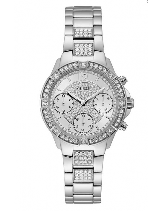 GUESS hodinky Roxy Silver-tone...