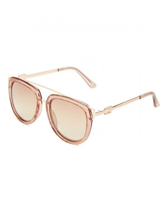GUESS okuliare Round Top-Bar Sunglasses