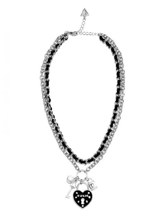 GUESS náhrdelník Silver-Tone Layered...
