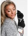 GUESS rukavice Varsity Logo Gloves čiernobiele