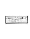 GUESS náramok+náušnice Silver-tone Pom Heart Charm Bracelet