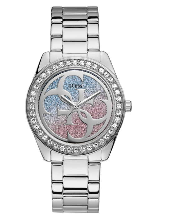 GUESS hodinky Silver-tone Analog Watch