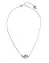 GUESS náhrdelník Silver-Tone Interlock Heart Necklace