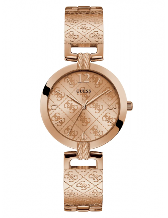 GUESS hodinky Rose Gold-tone Analog...