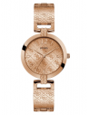GUESS hodinky Rose Gold-tone Analog Watch