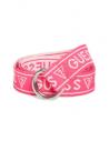 GUESS opasok Logo Woven Belt ružový