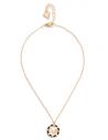 GUESS náhrdelník Gold-tone Mosaic Logo Button Necklace
