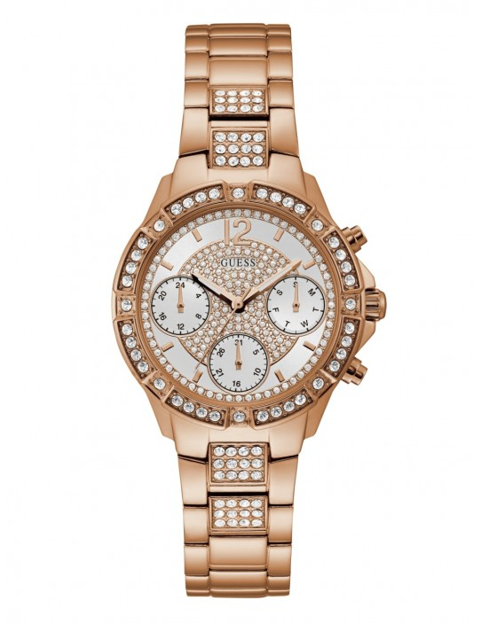 GUESS hodinky Rose Gold-tone And...