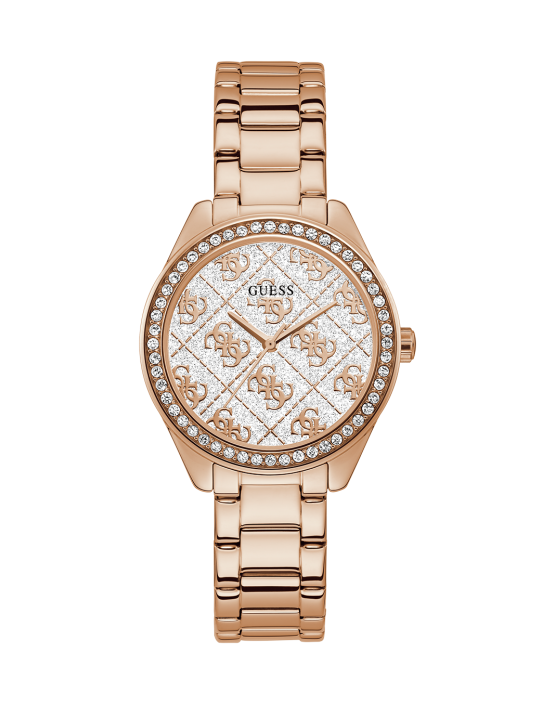 GUESS hodinky Rose Gold Tone Case...