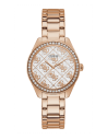 GUESS hodinky Rose Gold Tone Case Rose Gold Tone Stainless Steel Watch