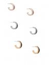 GUESS náušnice Multi-Tone Glitter Hoop Earrings Set