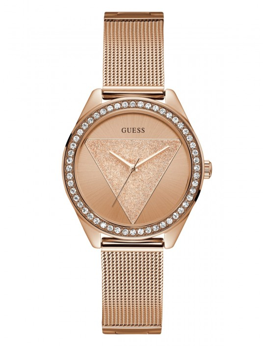 GUESS hodinky Rose Gold-Tone Logo...