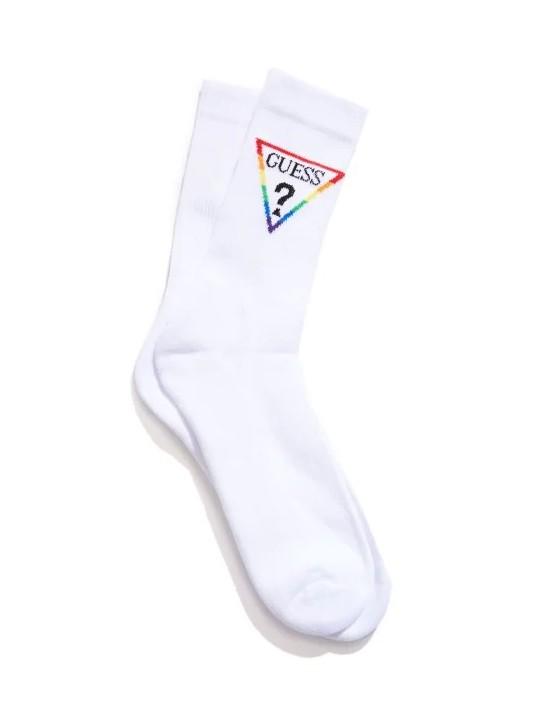 GUESS ponožky Rainbow Logo Crew Socks...