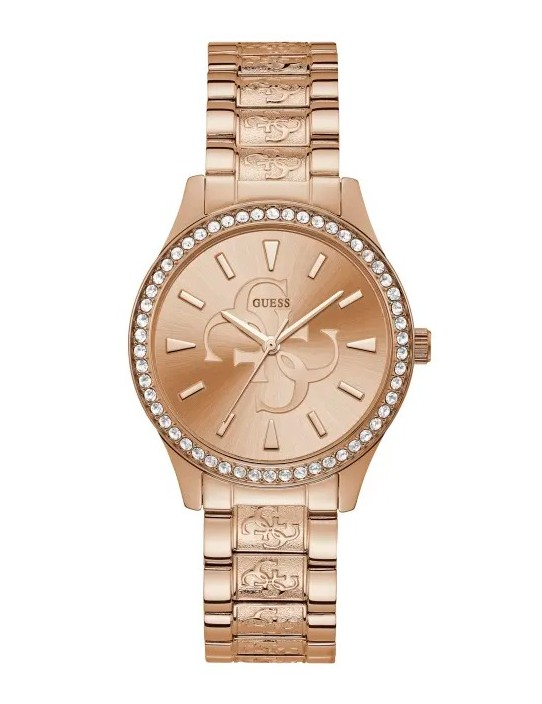 GUESS hodinky Rose Gold-Tone Quattro...