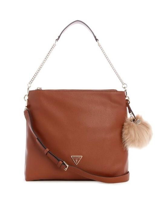 GUESS kabelka Destiny Hobo Bag cognac