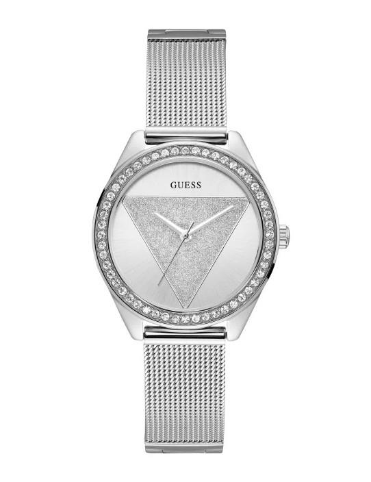 GUESS hodinky Silver-Tone Logo Analog...