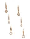 GUESS náušnice Huggie Hoop Earrings Set zlaté
