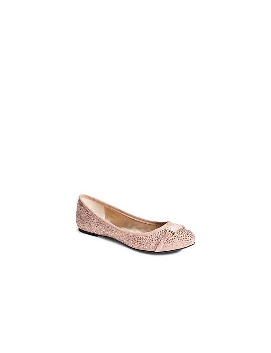 GUESS balerínky Genna Logo Flats ružové
