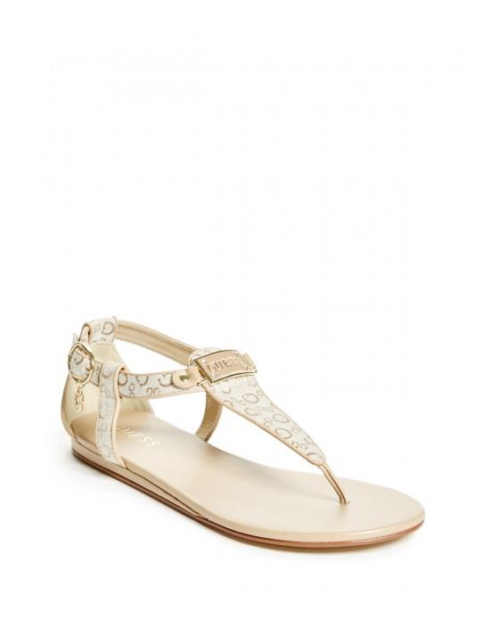 Outlet - GUESS sandálky Shaila krémové