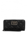Outlet - GUESS peňaženka Lolli Quilted Large  Zip-around Wallet čierna