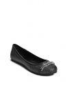 GUESS baleríny Gina Logo Plaque Flats sivočierne