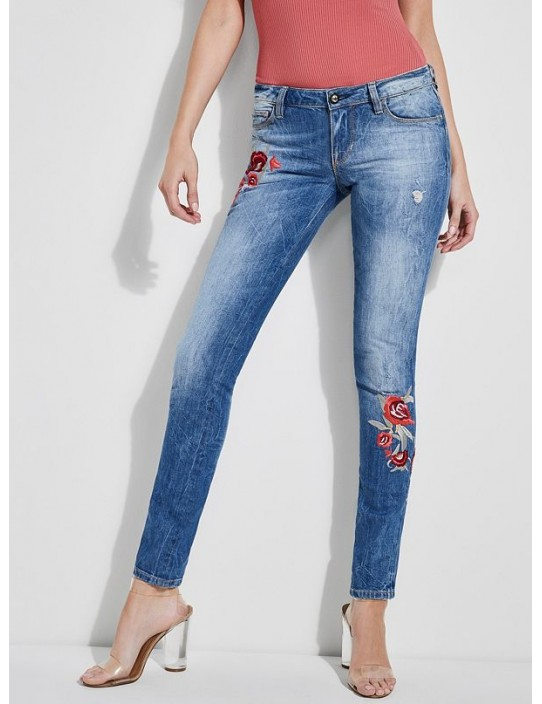 GUESS rifle Starlet Embroidered Jeans...