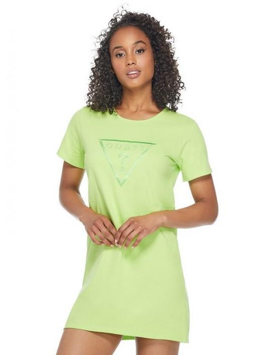 GUESS šaty Brite Logo T-Shirt Dress...
