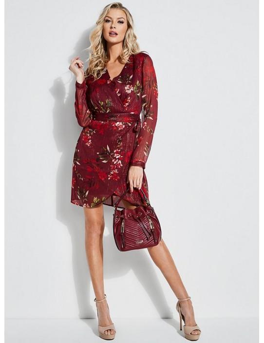 GUESS šaty Camilla Floral Surplice...