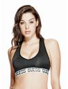 GUESS podprsenka Active Racerback Logo Band Bra čierna