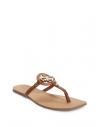 GUESS žabky Zali Logo T-strap Sandals cognac