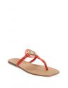 GUESS žabky Zali Logo T-strap Sandals červené