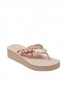 GUESS žabky Middle Ruffle Wedge Flip Flops pink
