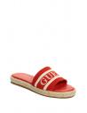 GUESS žabky Carlita Espadrille Slide Sandals červené