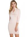 GUESS šaty Joss Rhinestone Logo Sweater Dress pink