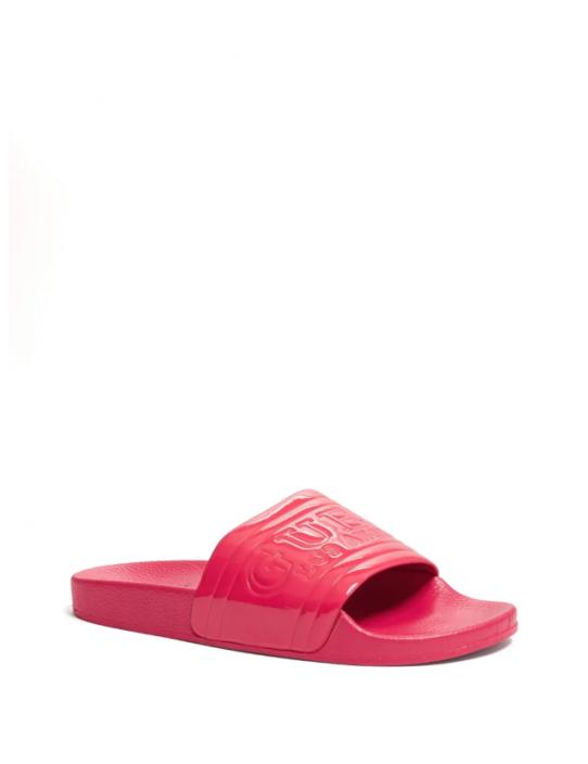 GUESS žabky Mel Logo Slide Sandals pink