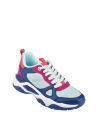 GUESS tenisky Flaus Color-block Chunky Sneakers modré