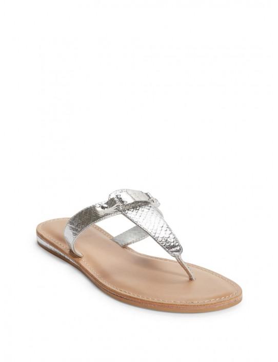 GUESS žabky Jenza Snake T-strap Sandals