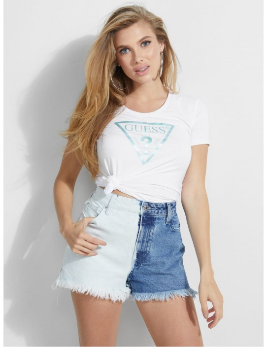 GUESS tričko Short-sleeve Peace Logo...