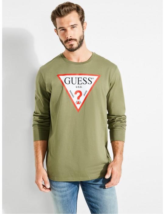 GUESS top Classic Logo Long-sleeve...