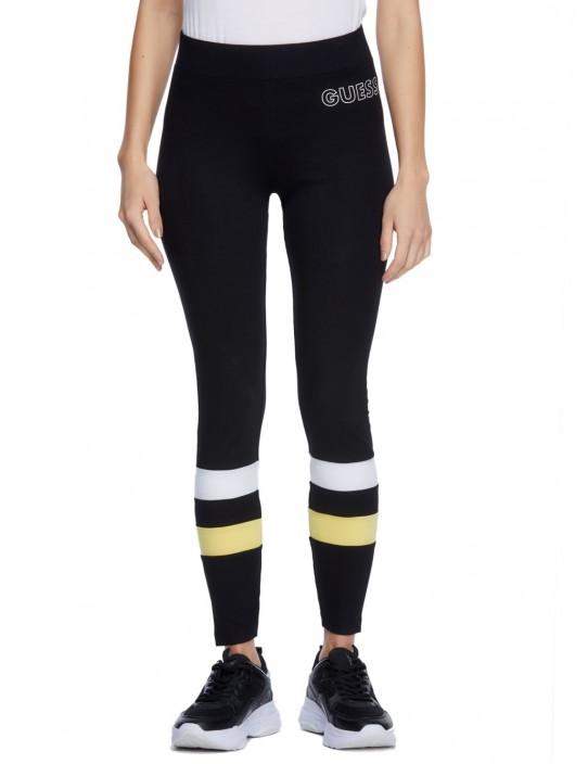 GUESS legíny Austen Logo Leggings čierne