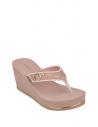 GUESS žabky Sarraly Wedge Logo Flip Flops blush
