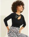 GUESS pulóver Rhinestone Script Logo Sweater čierny