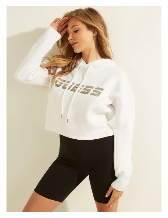 GUESS mikina Logo Hooded Sweatshirt...