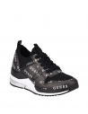 GUESS tenisky Jori Mesh Knit Sneakers čierne