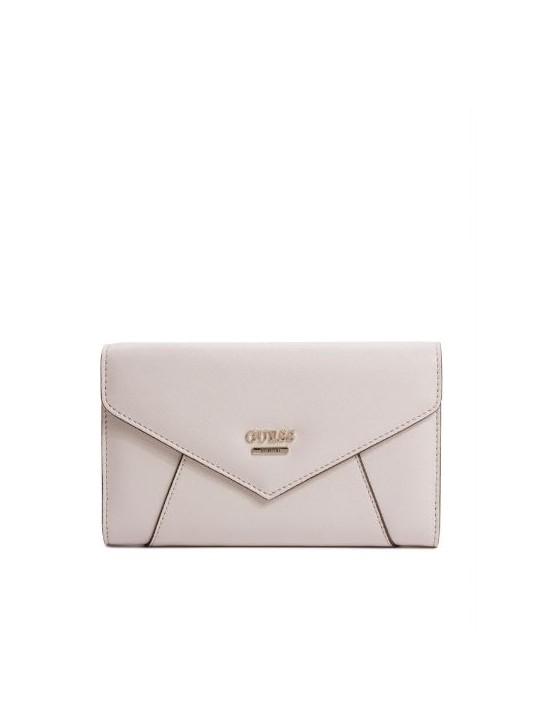 GUESS peňaženka Gia Envelope Clutch nude
