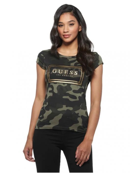 GUESS tričko Boe Mesh Logo Tee...