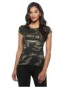 GUESS tričko Boe Mesh Logo Tee camouflage