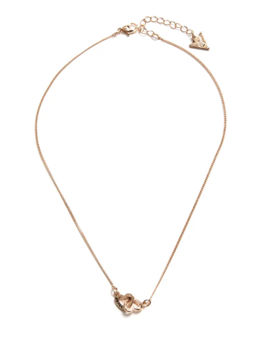 GUESS náhrdelník Gold-Tone Interlock...