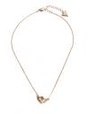 GUESS náhrdelník Gold-Tone Interlock Heart Necklace
