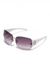 GUESS okuliare Rimless Shield Sunglasses biele